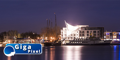Skyline Hafen (Nacht)