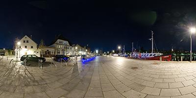 Altes Zollhaus bei Nacht